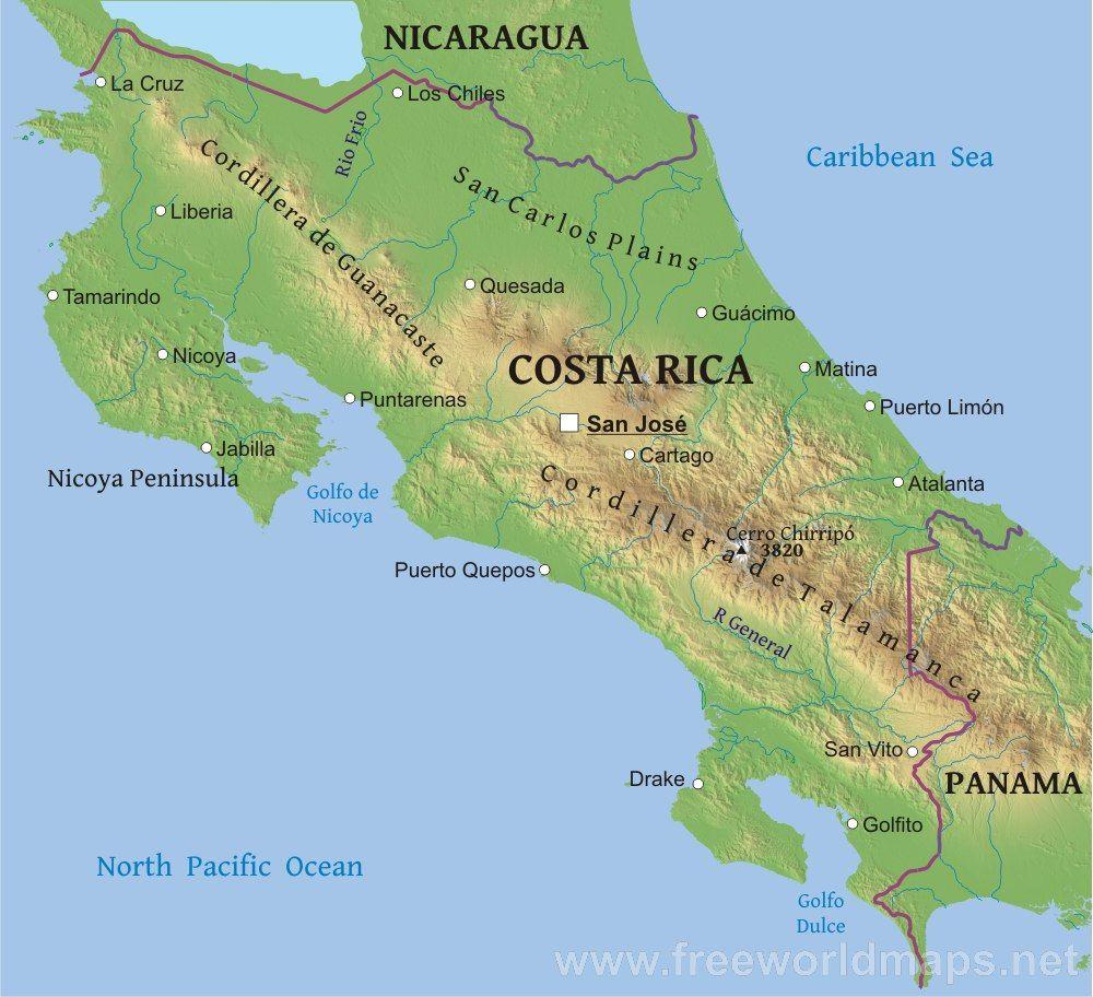 Bildergebnis für karte costa rica