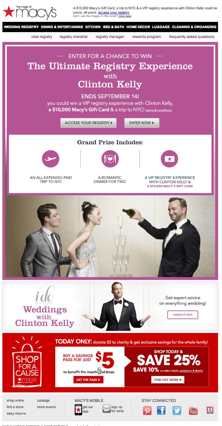 Macys Wedding Registry Email 2014 Email Autoregistrywish List