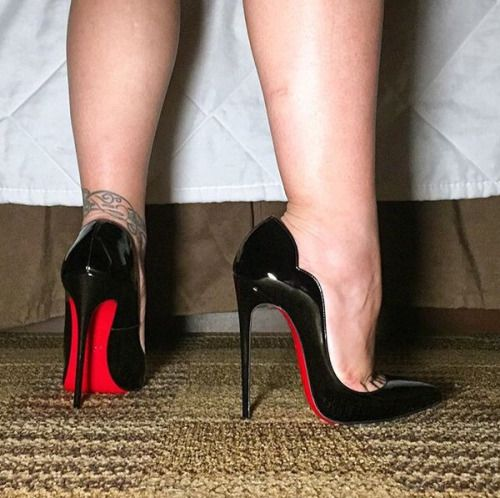 Shoejob with christian louboutin high heels cum on shoes - 3 part 9