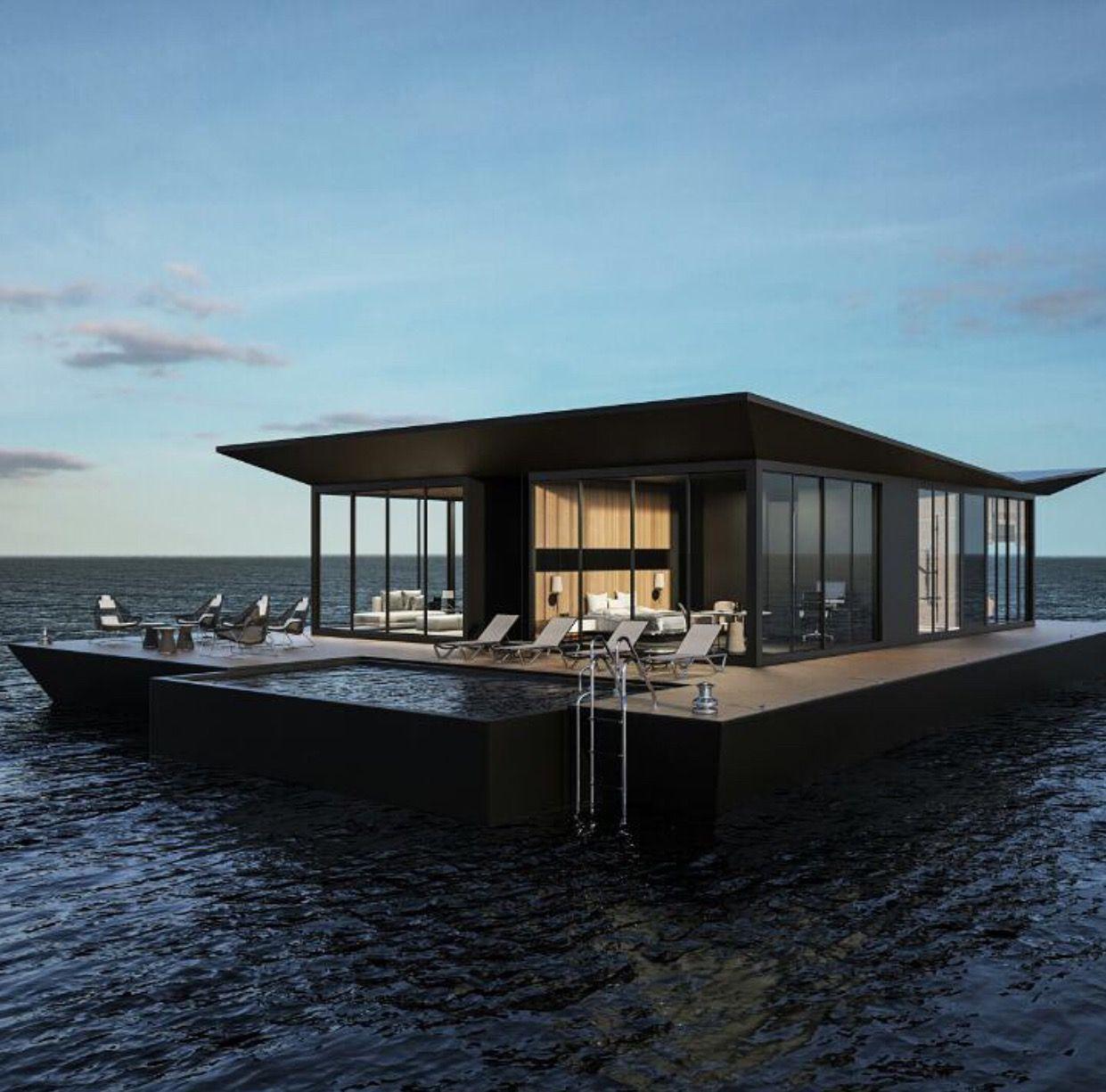 House Boat Home Design Floating