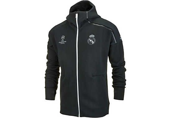Real madrid anthem jacke schwarz