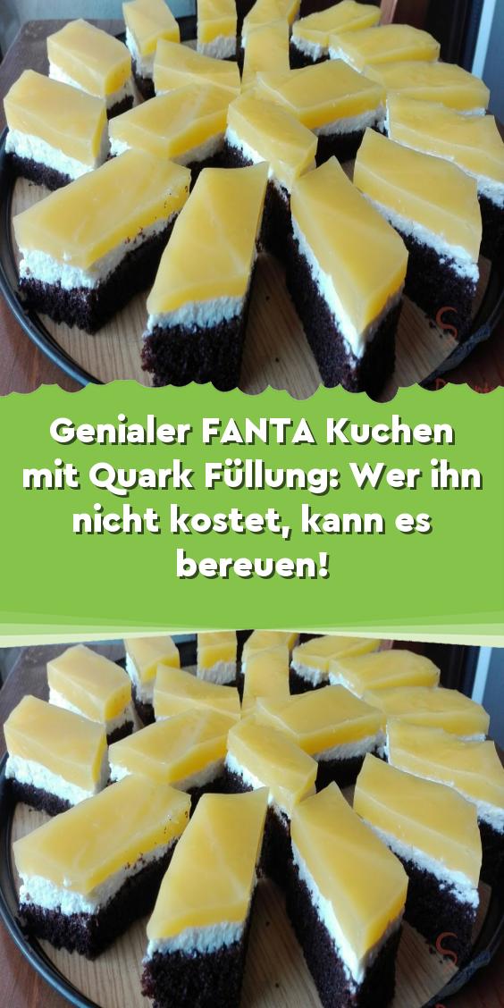 Genialer FANTA Kuchen mit Quark Füllung: Wer ihn nicht kostet kann es bereuen! – Obstkuchen-Rezepte
