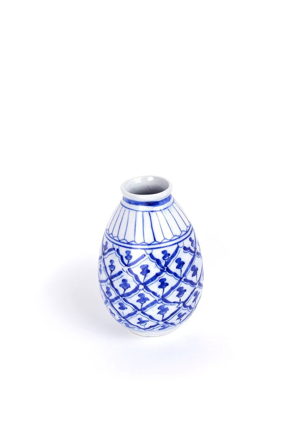 Second Hand White And Blue Vase Blue Vase Small Gifts Vase