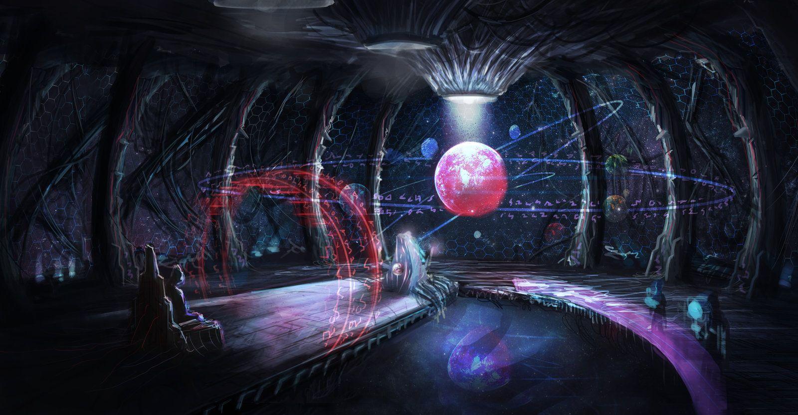 alien spaceship cockpit interior nicholas koo on artstation at. Black Bedroom Furniture Sets. Home Design Ideas