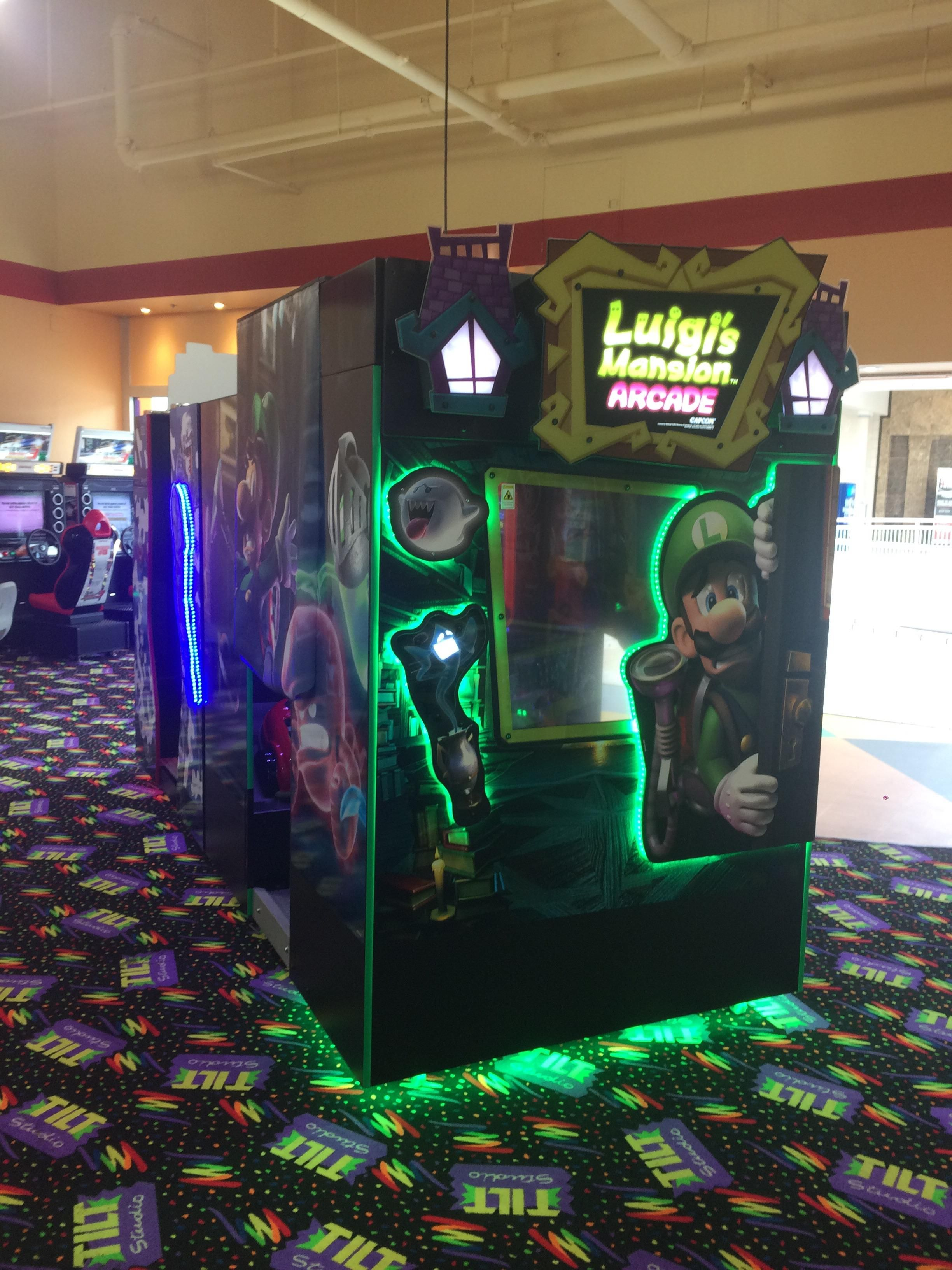 I didnt know they made an arcade version of luigis
