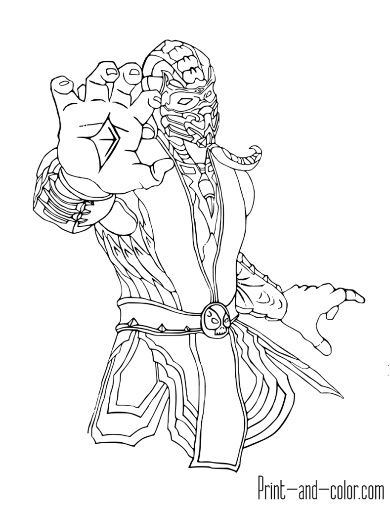 Mortal Kombat coloring page Scorpion Dibujos, Dibujos