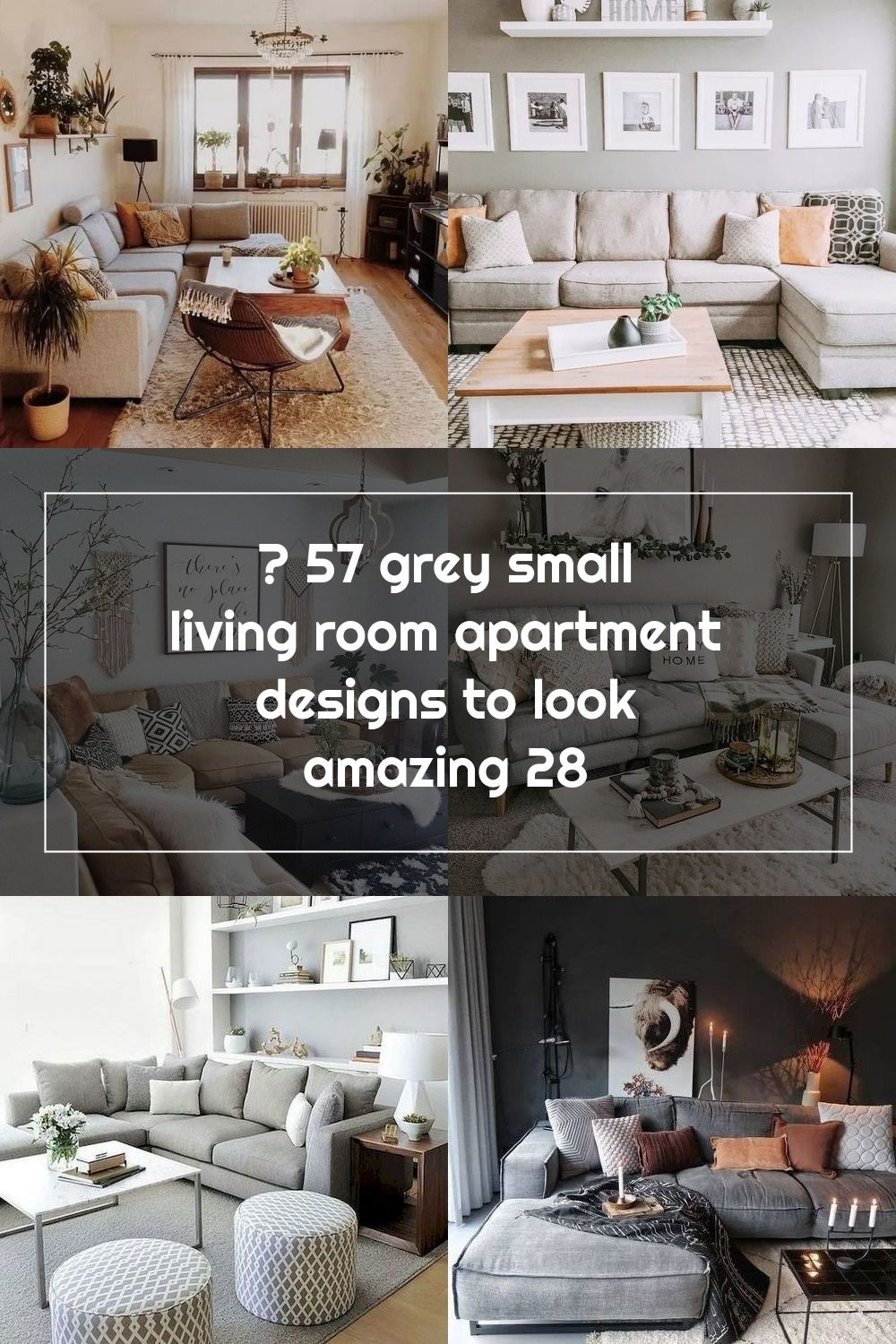 57 Grey Small Living Room Apartment Designs to Look Amazing #greylivingroom #smalllivingroom #livingroomdesign :