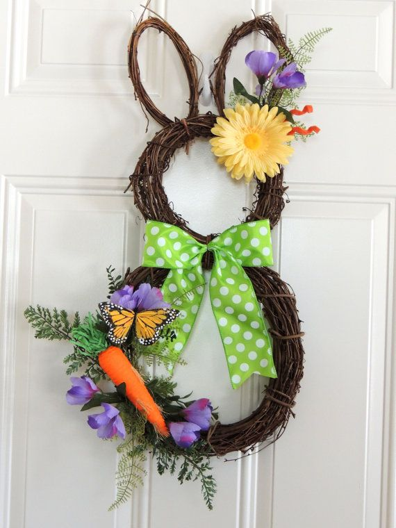 Super Cute Large 26 Grapevine Easter Bunny By
