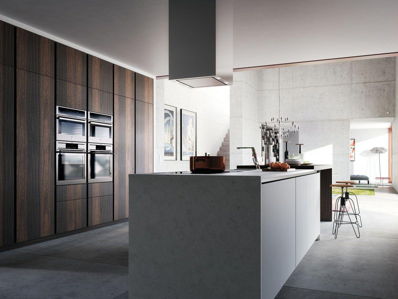 Lacquered wood veneer kitchen VELVET ÉLITE by GeD cucine