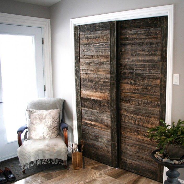 PORTE COULISSANTE EspaceBois Inc Portes Pinterest Portes - Porte placard coulissante de plus porte de bois