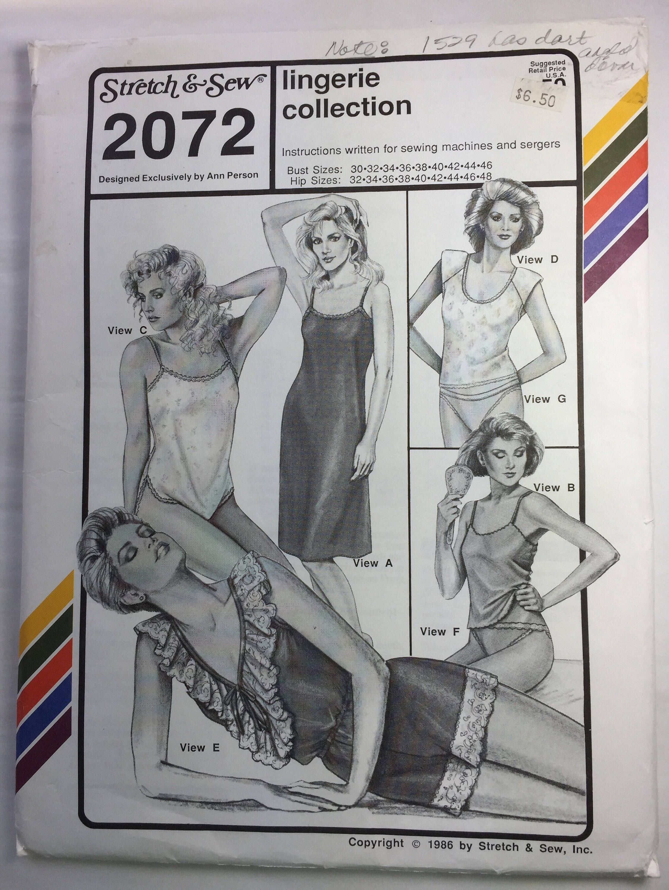 ac2f5f497 Vintage Stretch   Sew 2072 Pattern for Lingerie Collection Bias Cut Slip