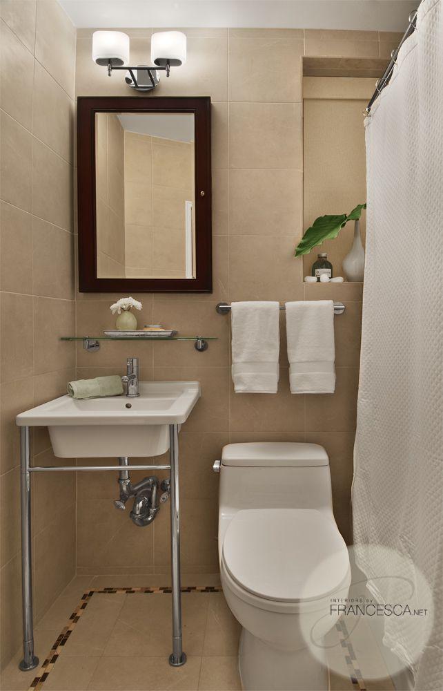 Small space, big style bathroom #small bath #timeless design #budget