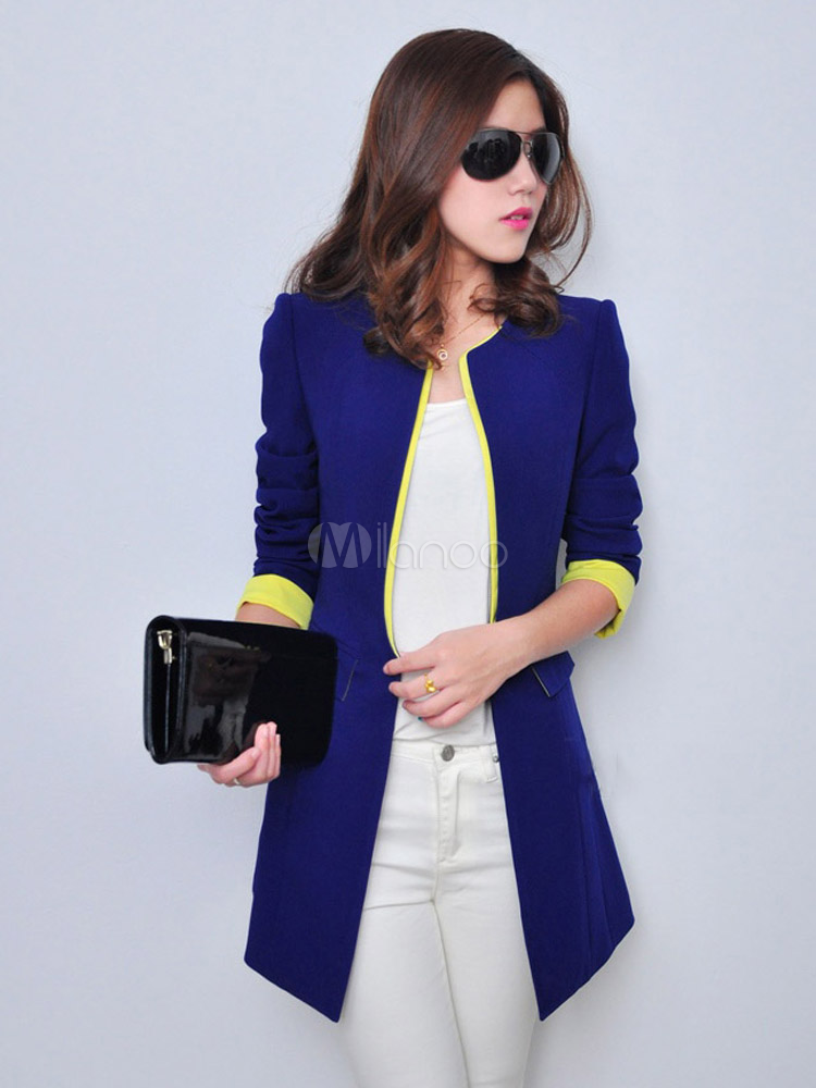 698fdcc83 Blue Blazer Women Casual Blazer Spring Women Trench Coat | outerware ...