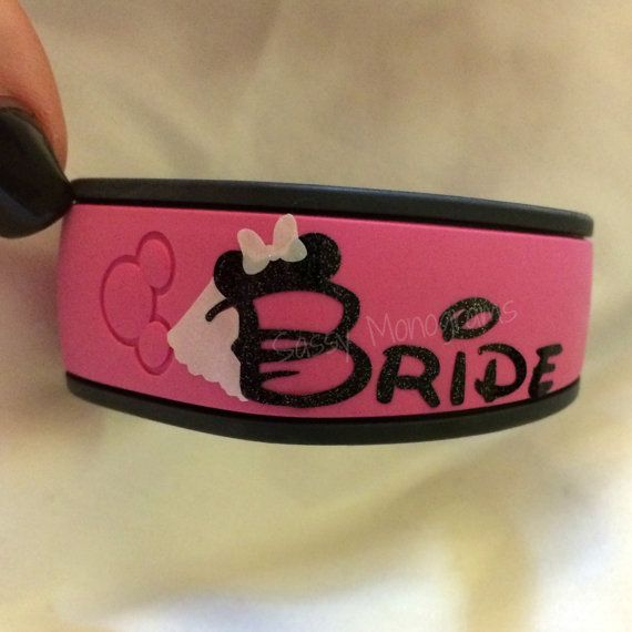 Bride OR Groom Magic Band Vinyl Decal Quick To Ship Glitter Or - Magic band vinyl decals