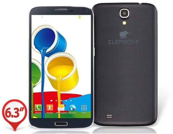 "NEW ELEPHONE P6 6.3"" ANDROID 4.2 MTK6589T QUAD-CORE SMARTPHONE (BLACK)"