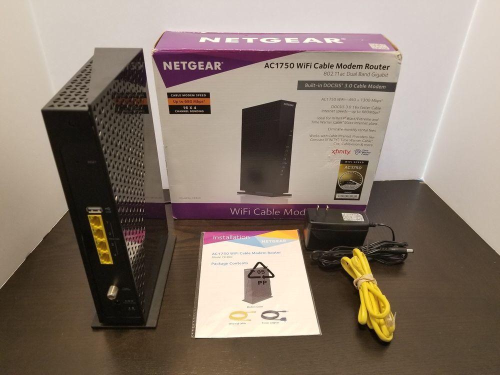Netgear Ac1750 Wifi Cable Modem Router 802 11ac - Somurich com