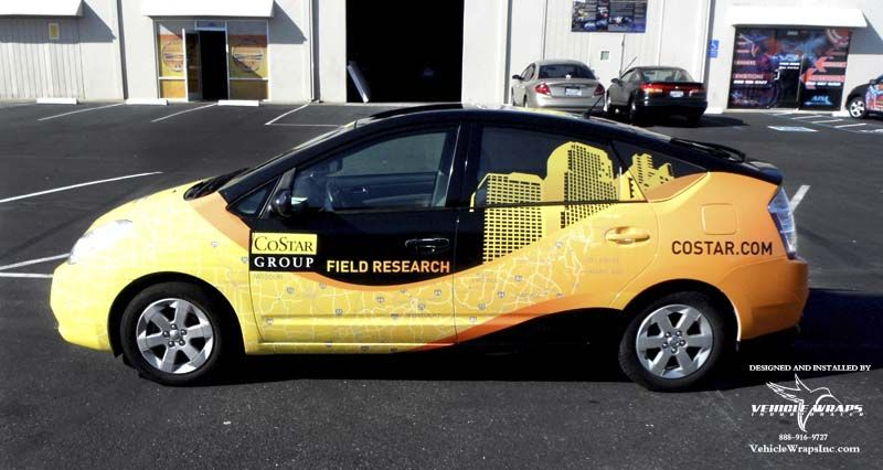 Full Vehicle Wrap Prius Costar Group 3m Vehicle