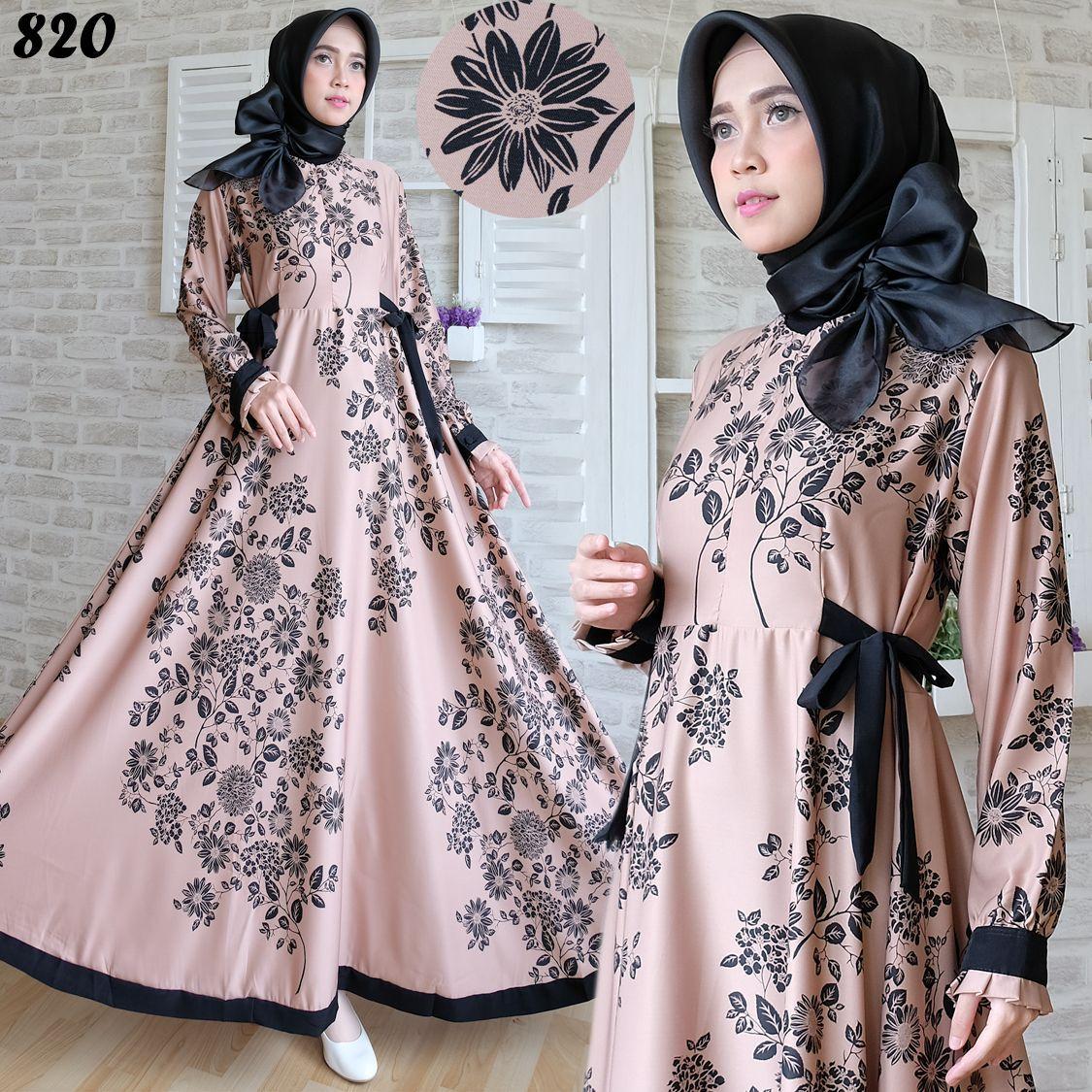 Gambar Busana Wanita Maxi Maxmara 10 Coklat Gold 10x10  Wanita