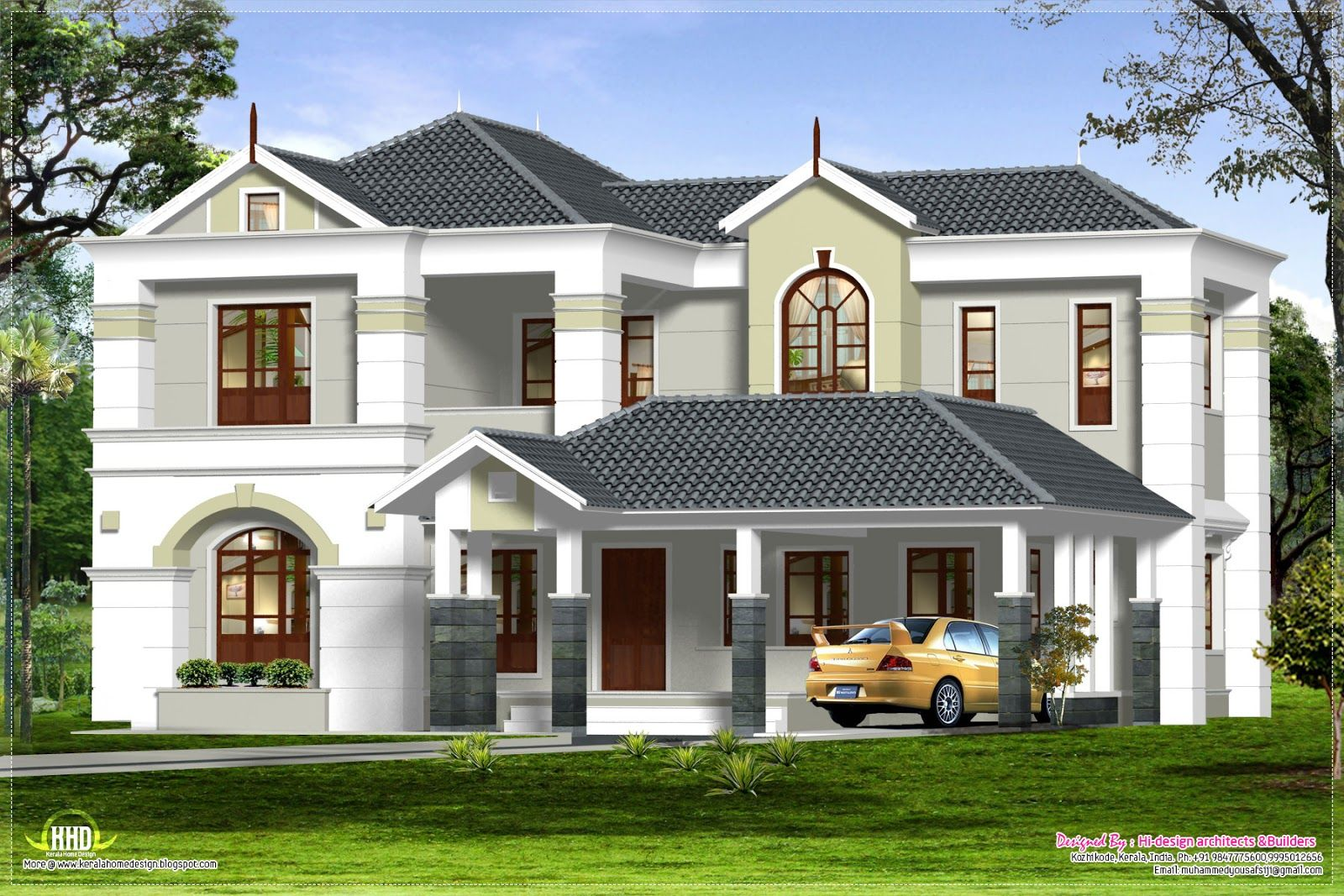Details Ground Floor First House Plan Kerala Home Design And Plans