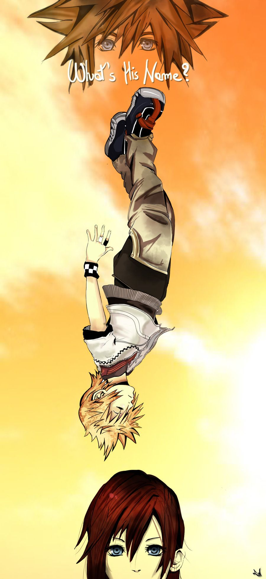 The scene where Roxas falls off the Station Tower in Kingdom ...