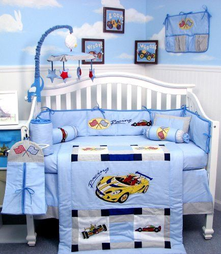 New Zoom Race Car Baby Crib Nursery Bedding Comfortable Product