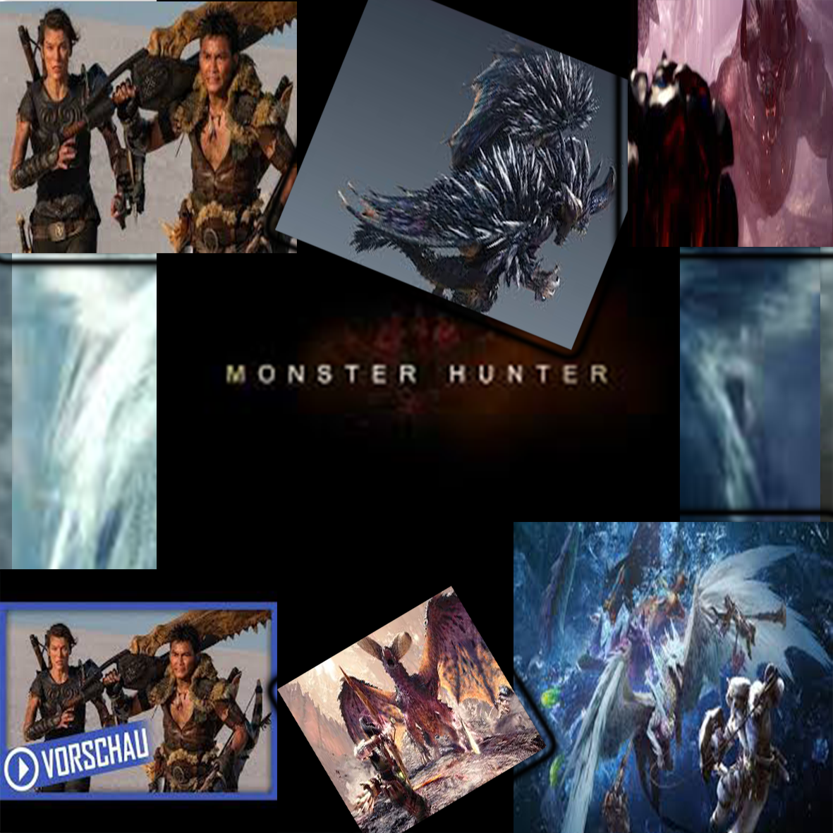 Five What By Five What Milla Jovovich And Tony Jaa Monster Hunter In 2020 Monster Hunter Movie Milla Jovovich Monster Hunter