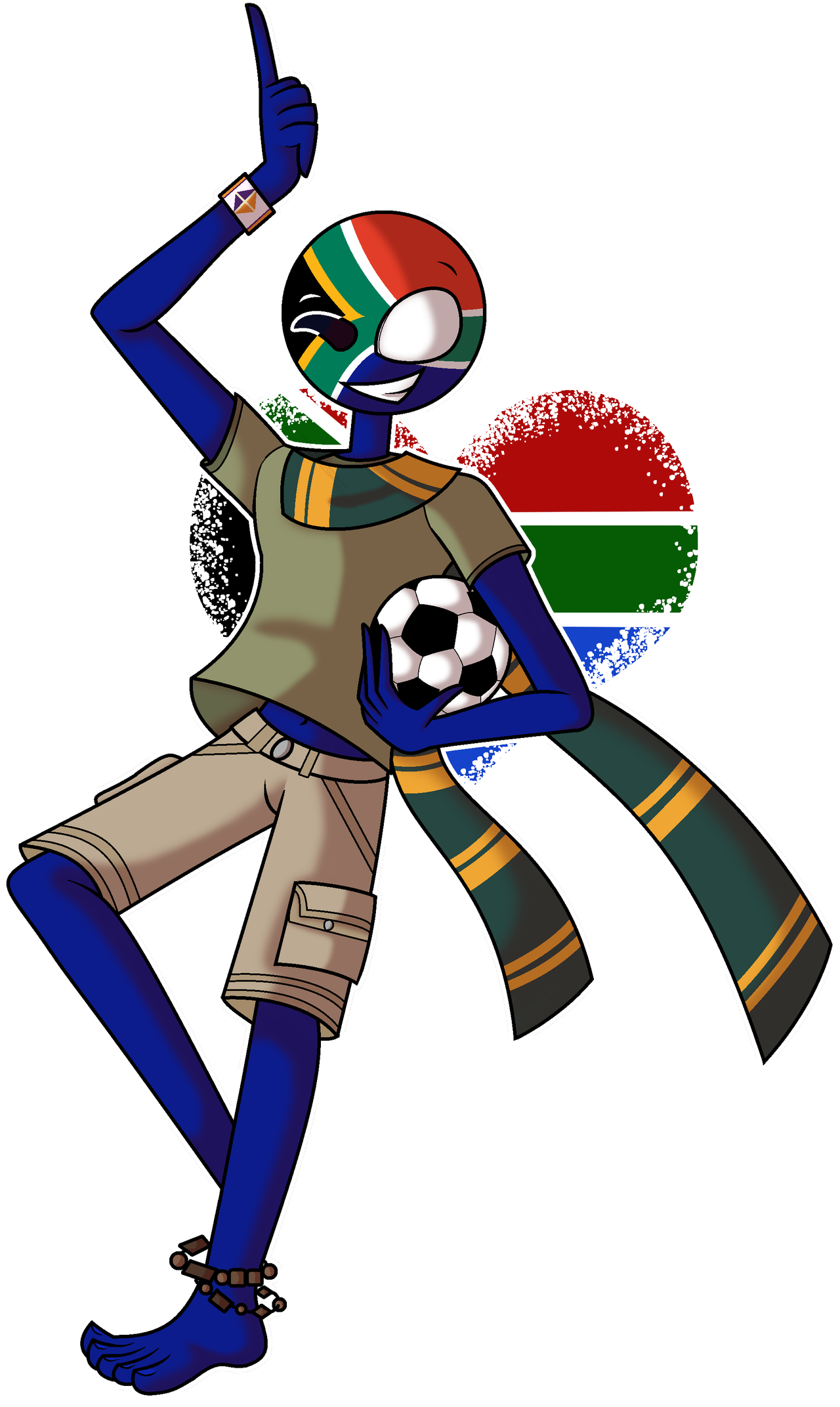 South Africa Countryhumans Wiki Fandom South Africa Flag South African Flag Africa