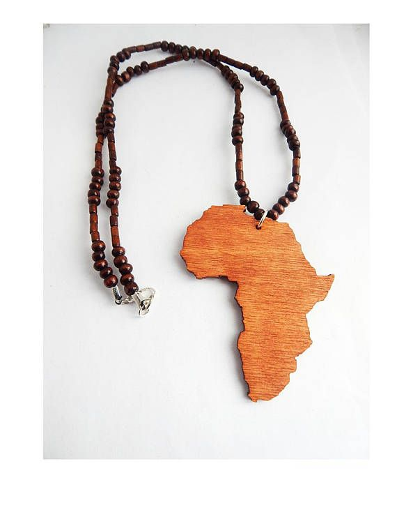 Wooden africa necklace wood africa jewelry beaded africa shape wooden africa necklace wood africa jewelry beaded africa shape motherland mens jewellery africa pendant by theblackertheberry mozeypictures Choice Image