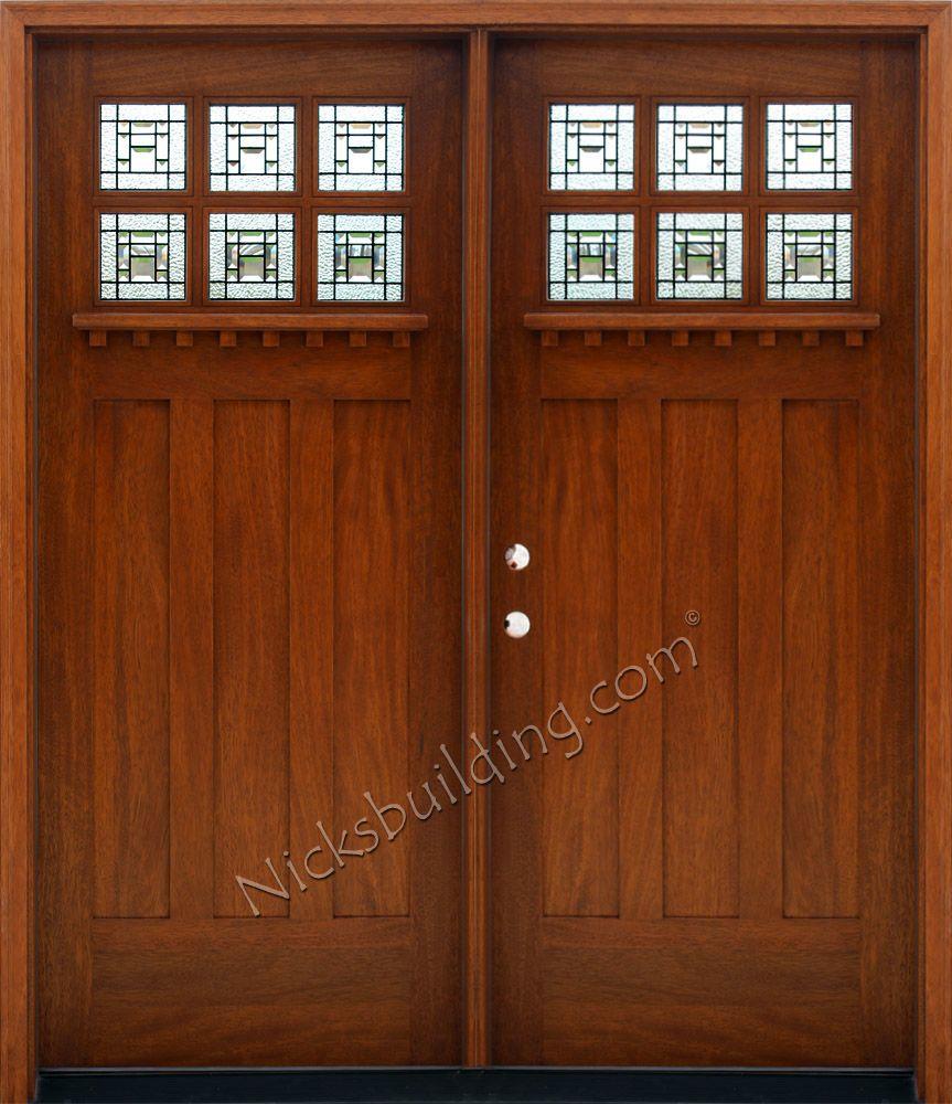 Craftsman Style Double Doors Double Doors Craftsman Front Doors