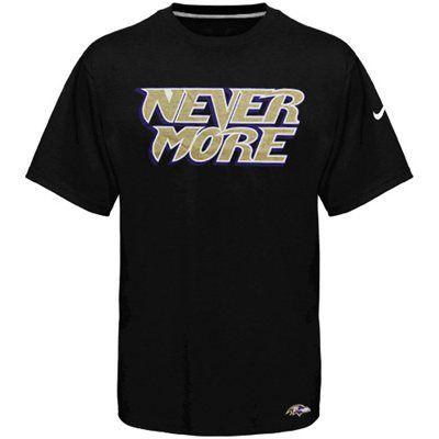 Baltimore Ravens Never More T-Shirt  05176ca24