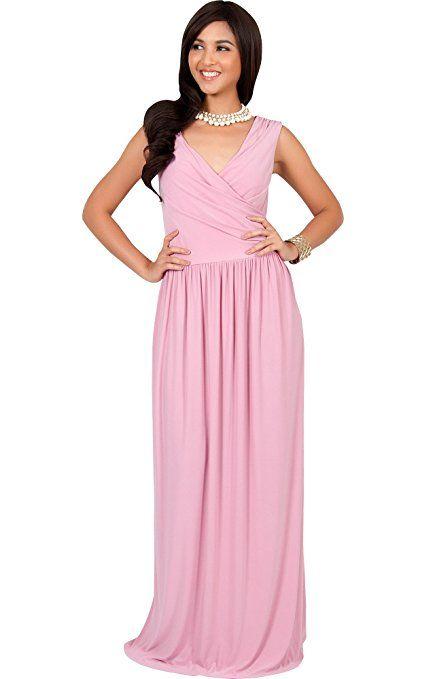 9686173b2f8 KOH KOH Petite Women Long Sleeveless Sexy Summer Semi Formal Bridesmaid  Wedding Guest Evening Sundress Sundresses Flowy Gown Gowns Maxi Dress  Dresses, ...