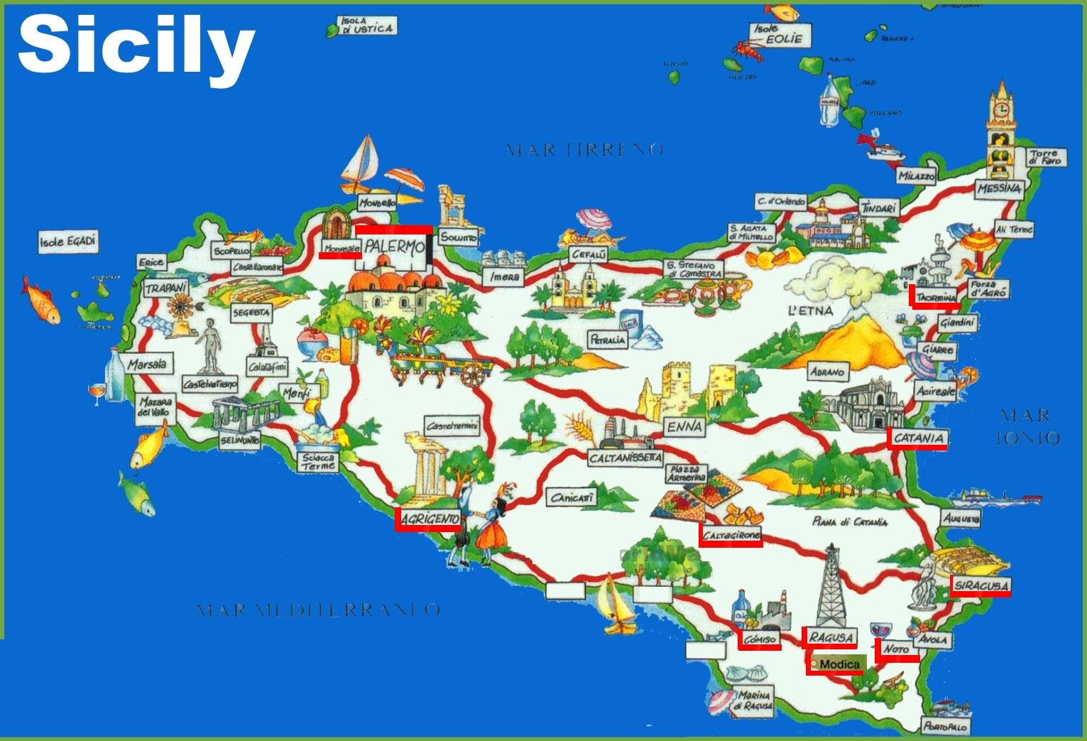 Pin By Sanda Michaela On Sicilia With Images Tourist Map