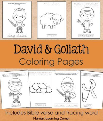 David and Goliath Bible Coloring Pages | David, Colorear y Conjuntos
