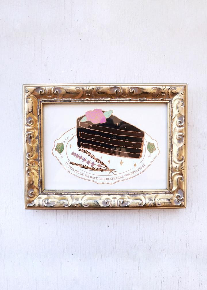 Photo of CHOCOLATE CAKE FOR BREAKFAST PRINT