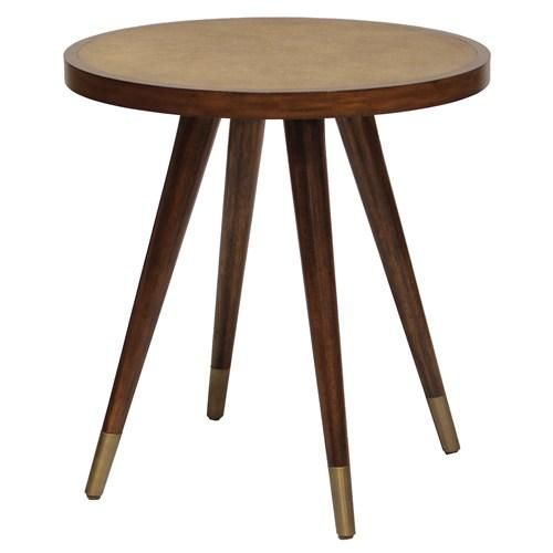 Tables   Bond Side Table   Zinc Door   Brown, Wood, Modern, Mid Century,  Tapered, Faux, Shagreen,