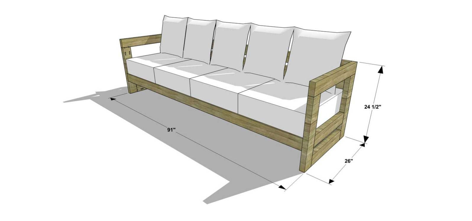 Free Diy Furniture Plans How To Build An Aegean Outdoor Sofa The Design Confidential Diy Furniture Plans Outdoor Sofa Furniture Plans