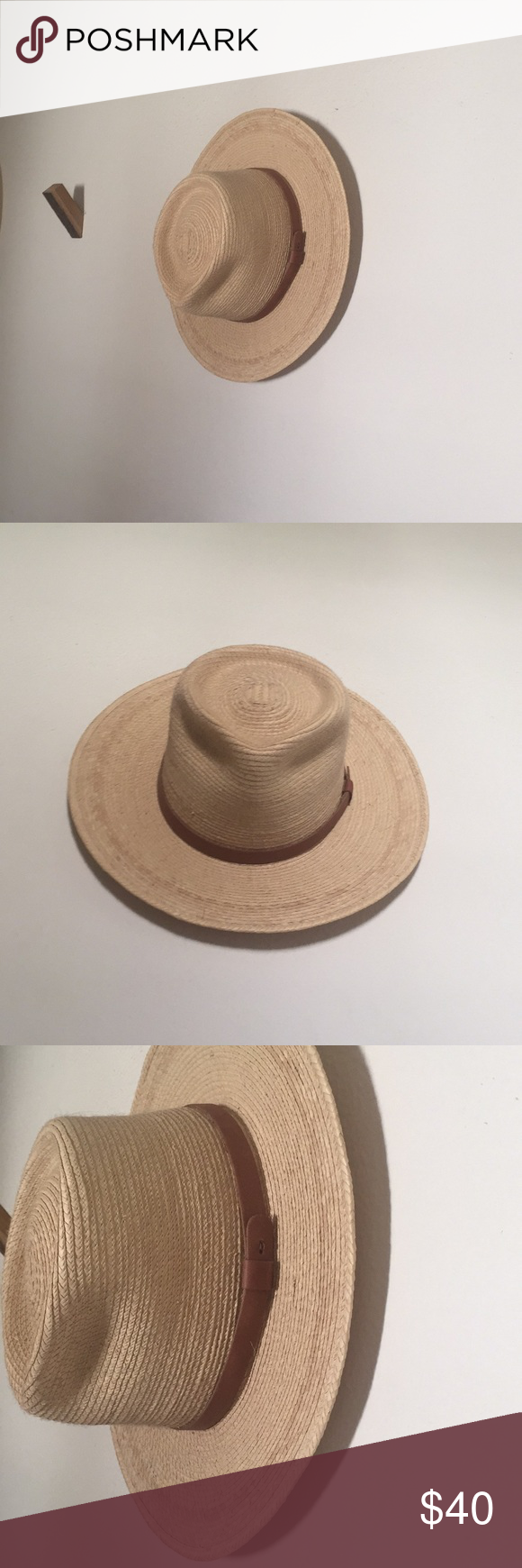 9973465744e0 Tear Drop Guatemalan Palm Leaf Straw Fedora Hat Excellent condition - only  worn once as too