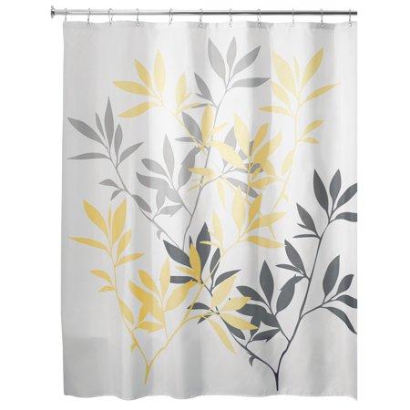 Interdesign Leaves Fabric Shower Curtain Standard 72 Inch X 72