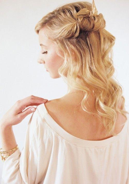 Halb Offen Geschlossen Frisuren Pinterest Festliche Frisuren