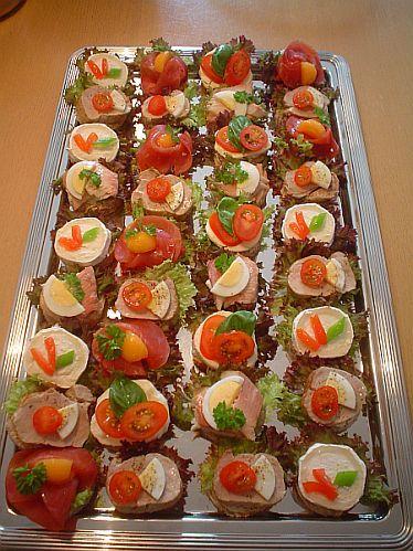 Canaps vorbereiten  mit Gelatine glasieren  FOOD