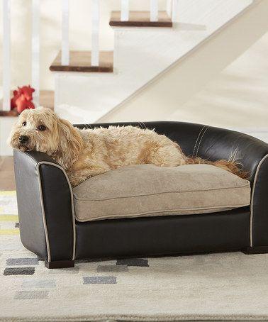 Black Remy Settee Bet Bed Zulily Zulilyfinds Dog Sofa Bed
