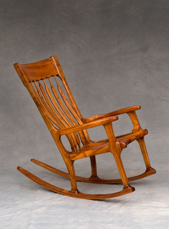 Incredible Koa Rocking Chair By Cathyberenberg On Etsy 3600 00 For Machost Co Dining Chair Design Ideas Machostcouk