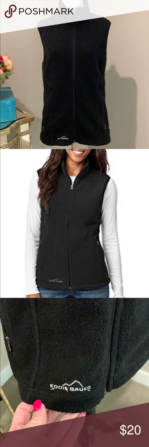 Eddie Bauer fleece zip vest Clothes design, Eddie bauer