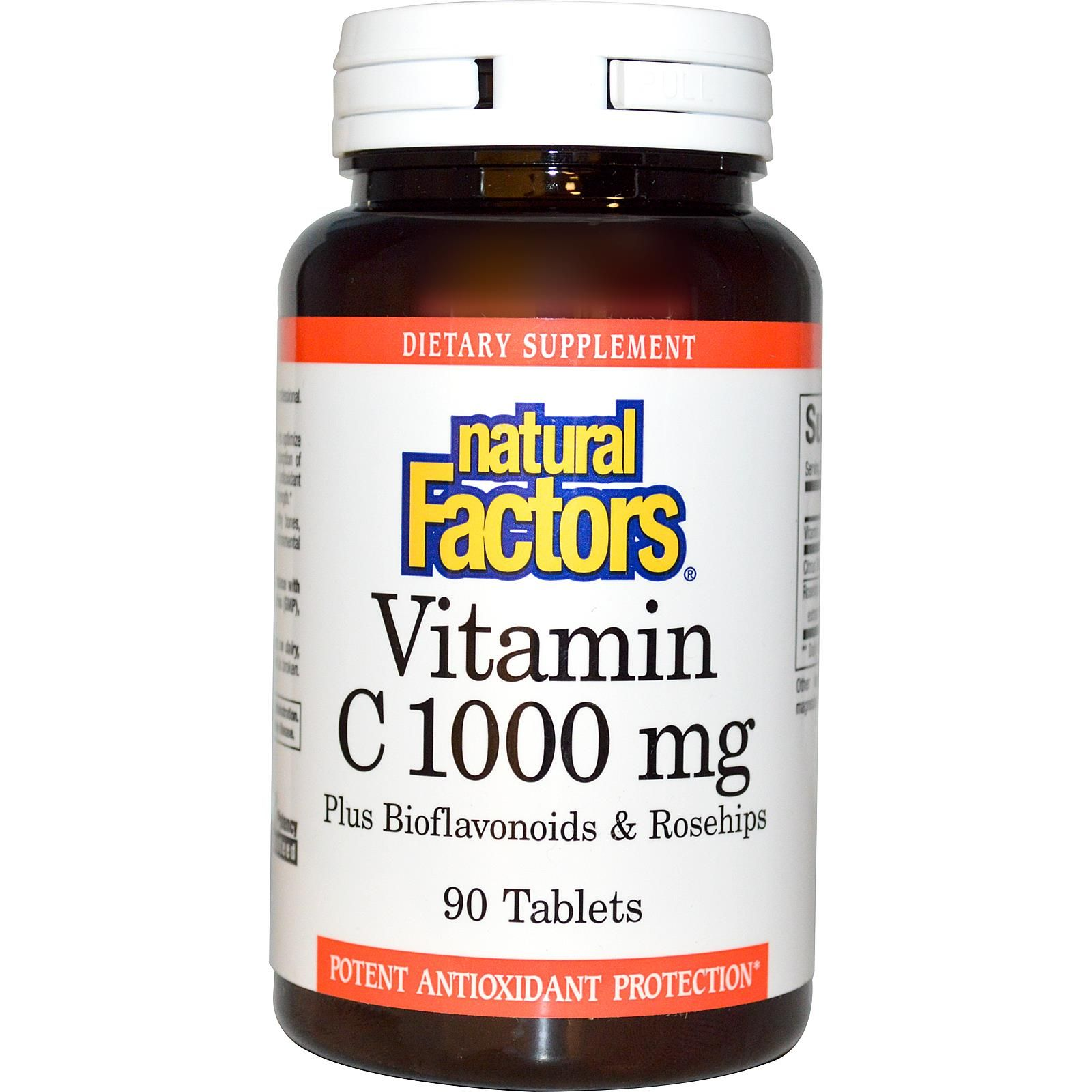Natural Factors, Vitamin C, Plus Bioflavonoids & Rosehips