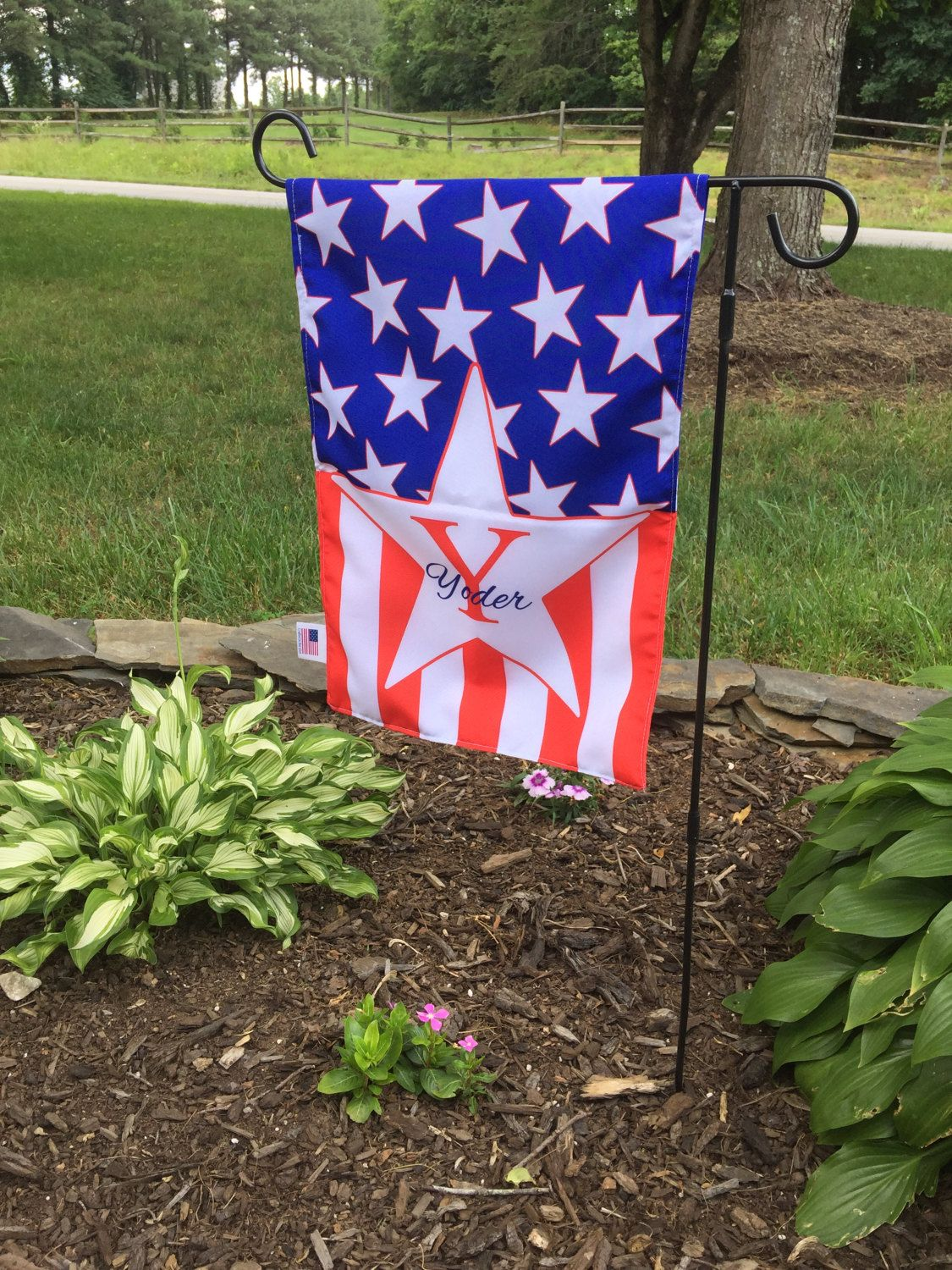 Personalized Garden Flag Fourth Of July American Flag Monogram Flag Welcome Flag House Flag Yard Flag Personalized Garden Flag Monogram Flag Garden Flags