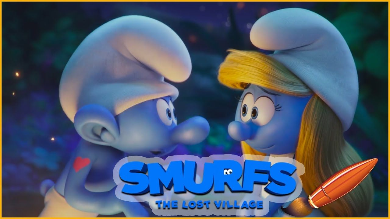 Coloring Smurfs The Lost Village with Smurfette and Hefty - Kids ...