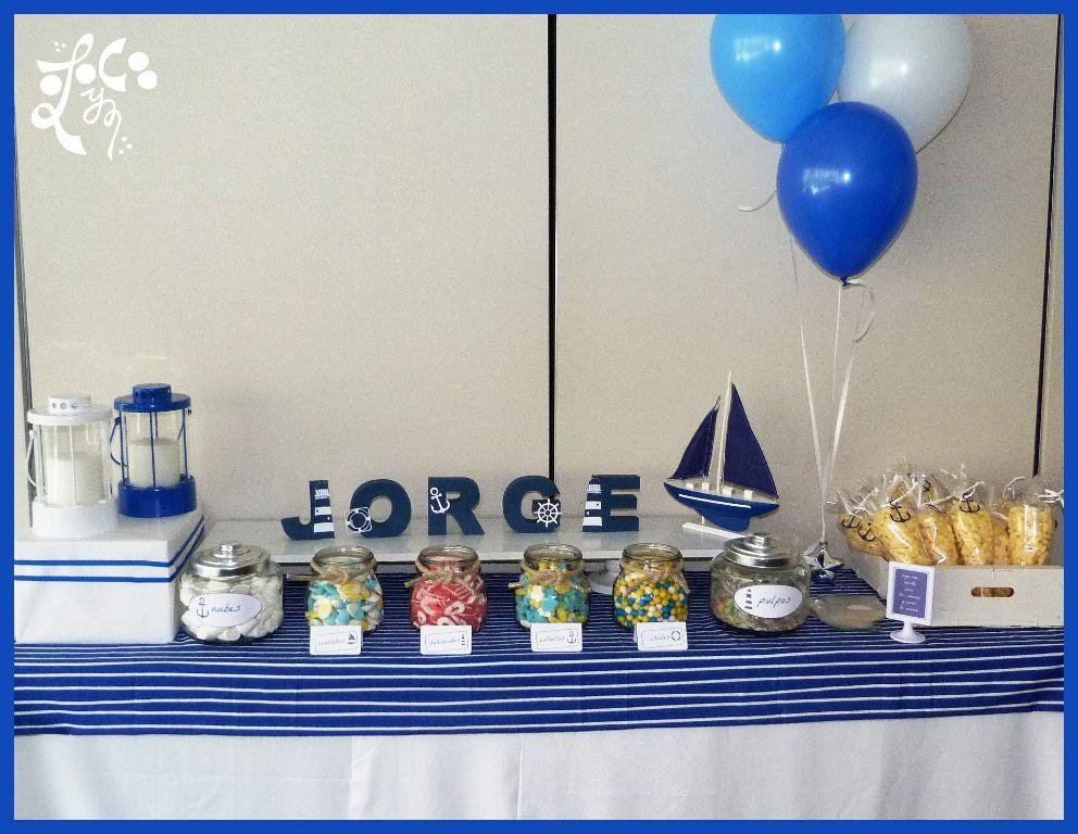 Mesa dulce comunion marinero valencia mesas de chuches for Decoracion mesas dulces
