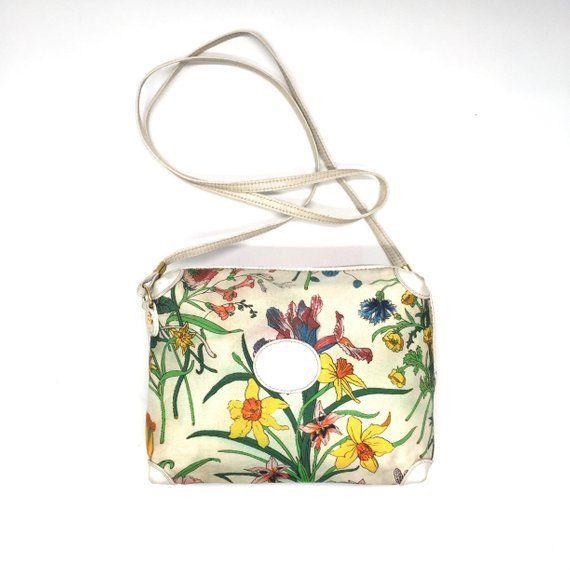 00e9ba3341173e Authentic Gucci floral printed canvas bag Vintage Bag, Vintage Gucci,  Vintage Items, Gucci