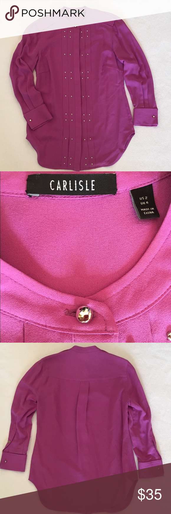 Carlisle Silk Blouse with beautiful detailing Carlisle Silk Blouse with beautiful detailing Carlisle Tops Blouses