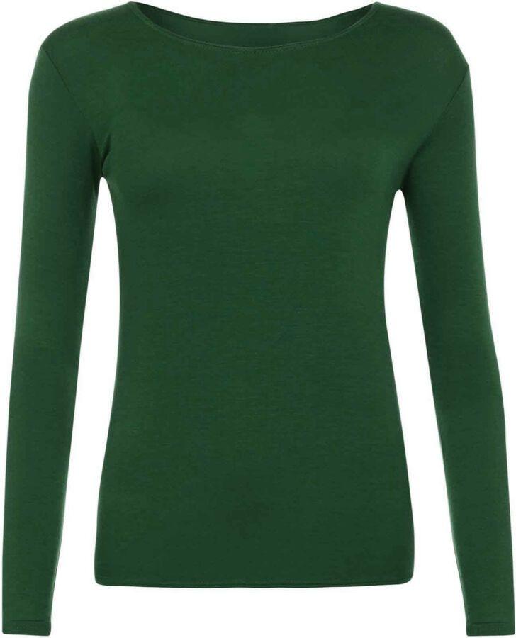 b1c7218e4e Ladies Long Sleeve T-Shirt Women Round Neck Plain Basic Top Plus Size 8 - 26  Shirt Women Sleeve